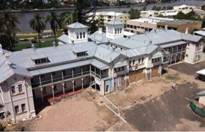 Large window repair and reglazing job at Yungaba House, Brisbane