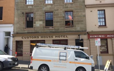 Historic hotel looking after its windows