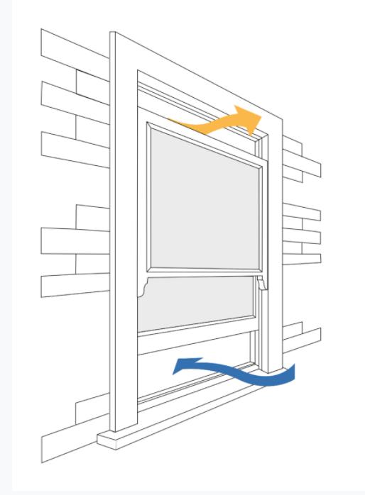 Open window demonstrating ventilation